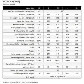 VOTEC VX Framekit anodized, anodized black